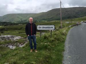 Me in the Gaeltacht this year, near border between Cong, County Mayo and County Galway.